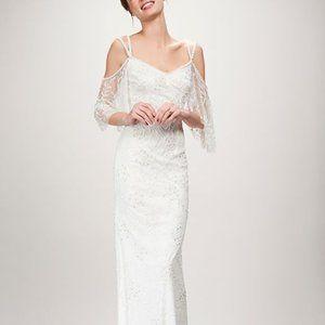 Theia Layla 890425 Ivory Wedding Gown Size 10 NWT